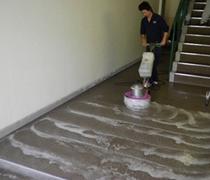 ④ポリッシャーによる洗浄